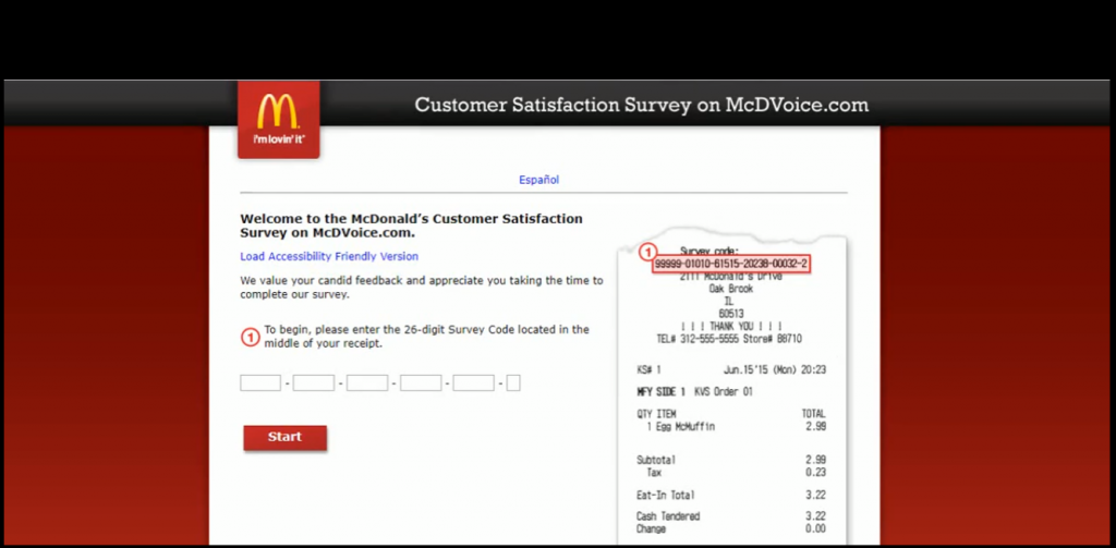 Mcdvoice Survey First Step
