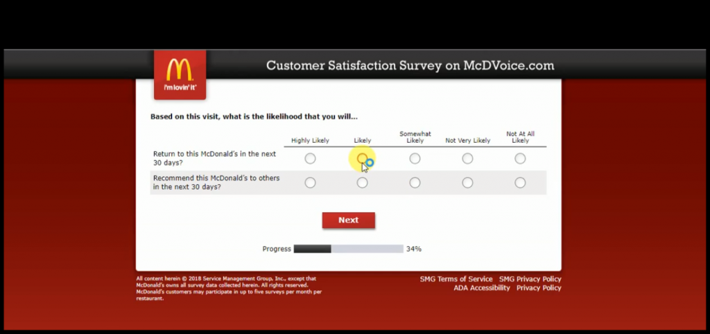 Mcdvoice Survey Forth Step