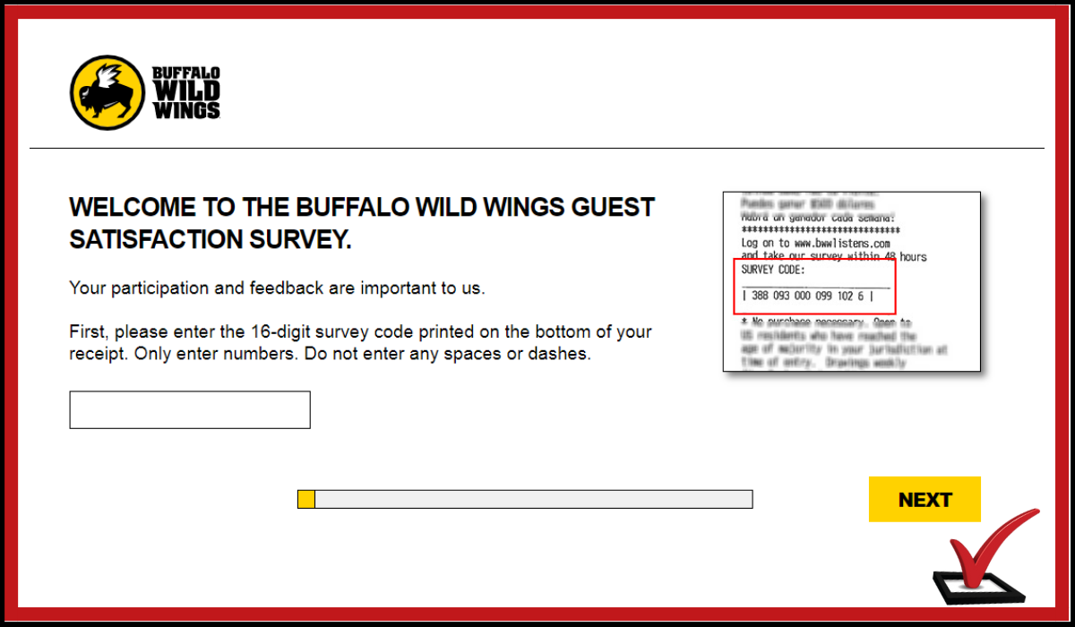 Buffalo WildWings surveys