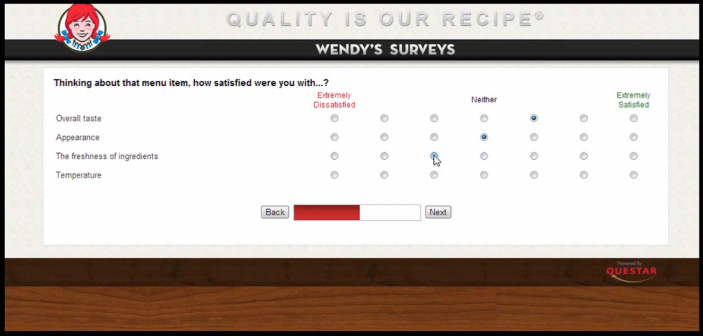 talkto wendys survey Forth step