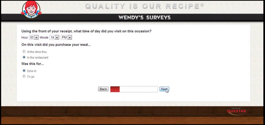 talkto wendys survey second step