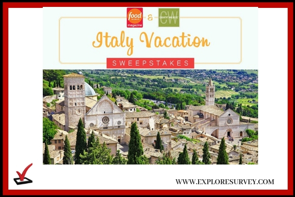 Foodnetwork.com Italy Getaway Sweepstakes