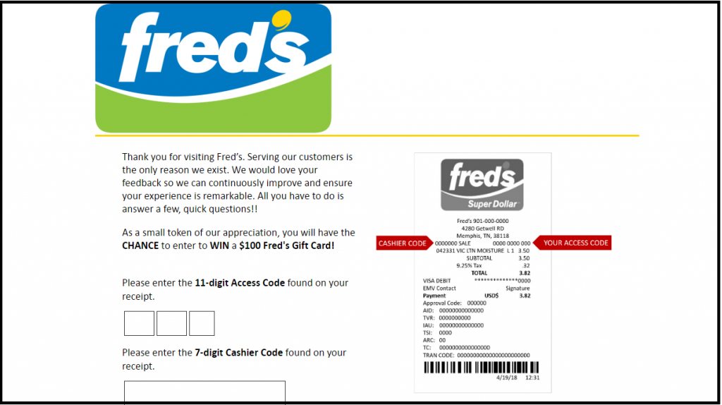 Fred's Sweepstakes