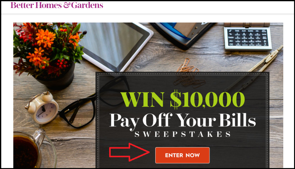 BHG.com Pay Off Your Bills Sweepstakes