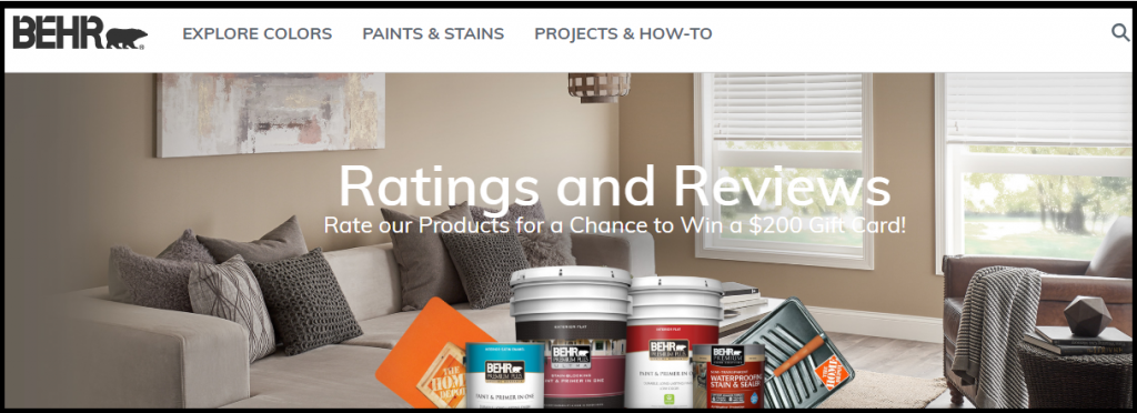 Behr.com Rate & Win Sweepstakes