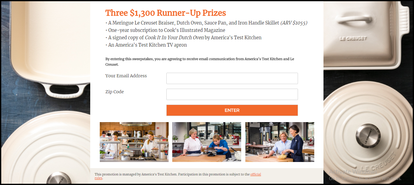 Cookware Sweepstakes