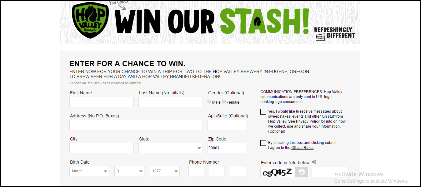 Win Our Stash