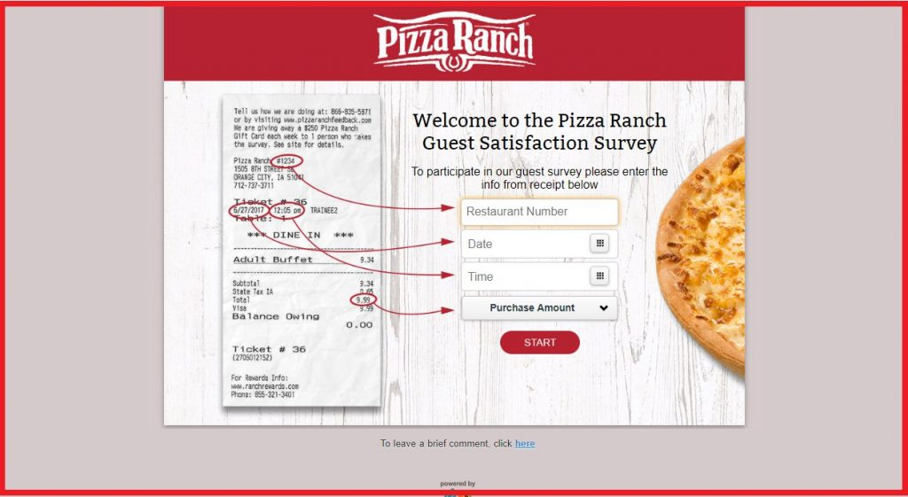 pizza ranch entry guide