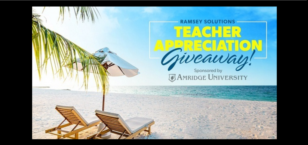 DaveRamsey.com Teacher Appreciation Giveaway