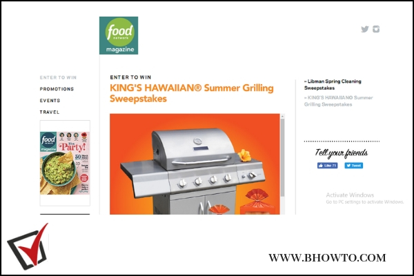 Foodnetmag.com Summer Grilling Sweepstakes entry