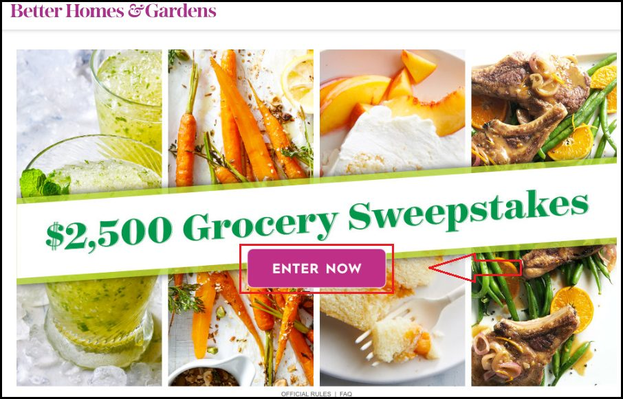 Grocery Sweepstakes Homepage