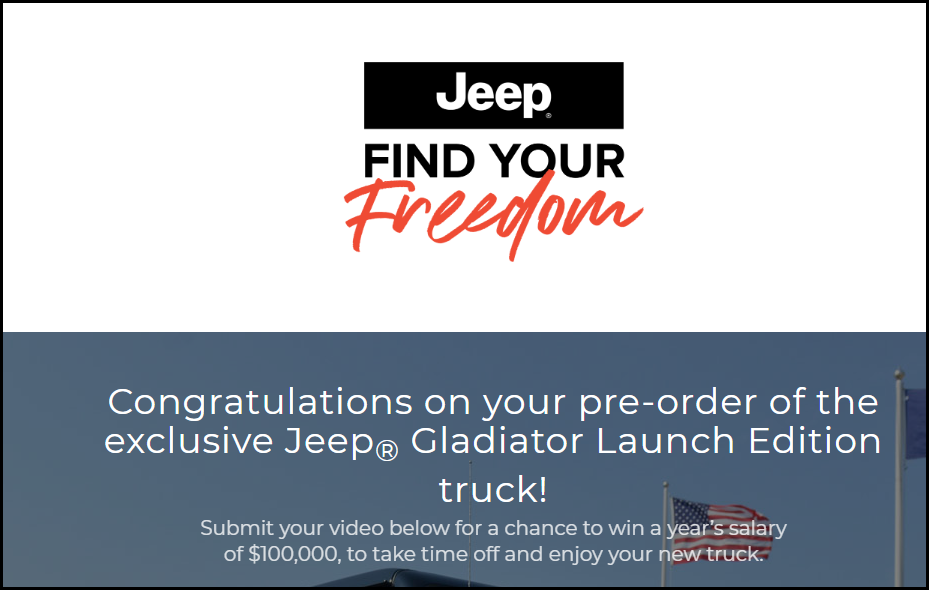 Jeep Find your Freedom Home page