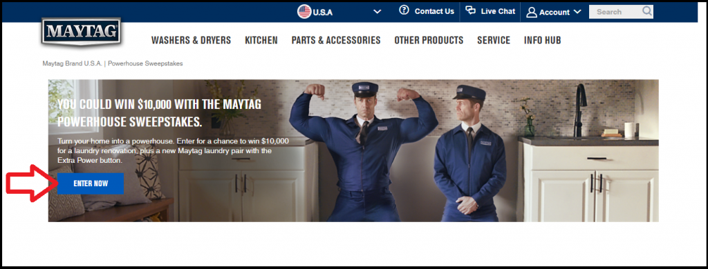 Maytag Powerhouse Sweepstakes: Win $10000 for Laundry Makeover