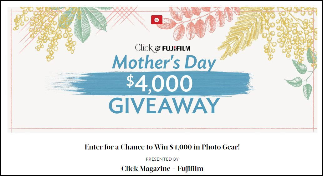 Mothers day Sweepstakes Home page