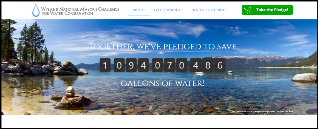 My Water Pledge Challenge For Water Conservation Sweepstakes