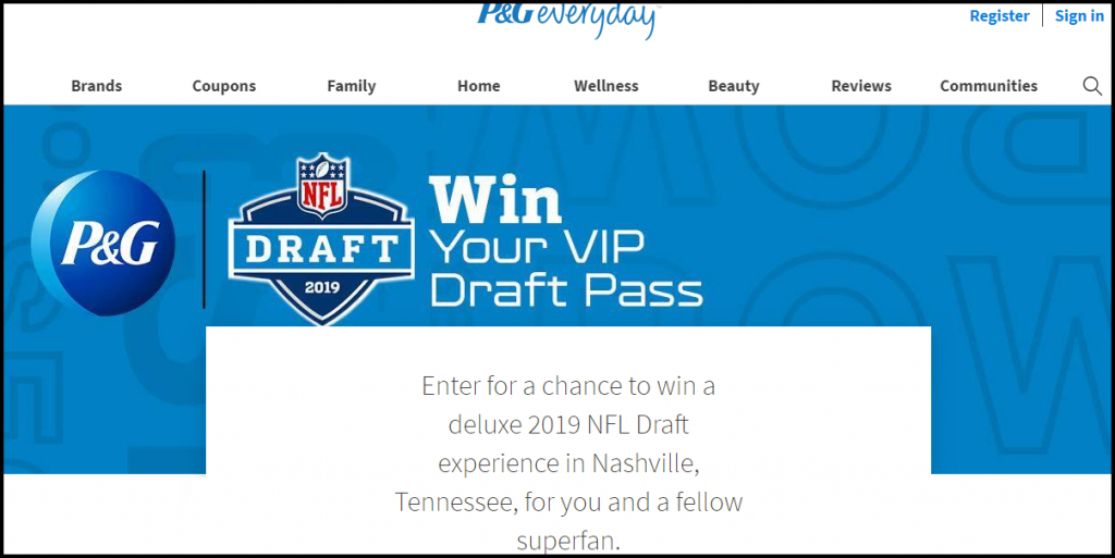 PGEveryday.com NFL Draft Sweepstakes