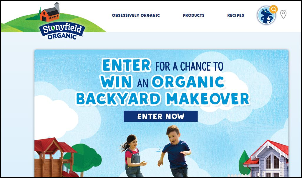 Stonyfield organic background