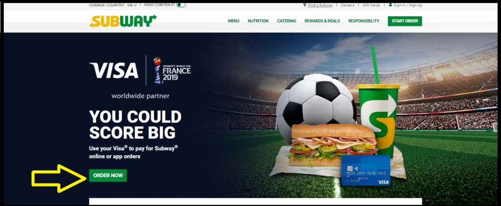 Subway.com 2019 FIFA Women's World Cup Sweepstakes