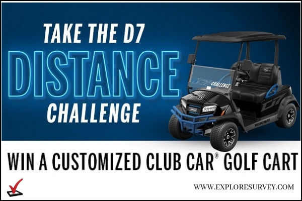Wilson.com D7 Sweepstakes Win Golf Cart
