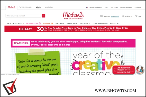 Michaels.com Year of Creative Classroom