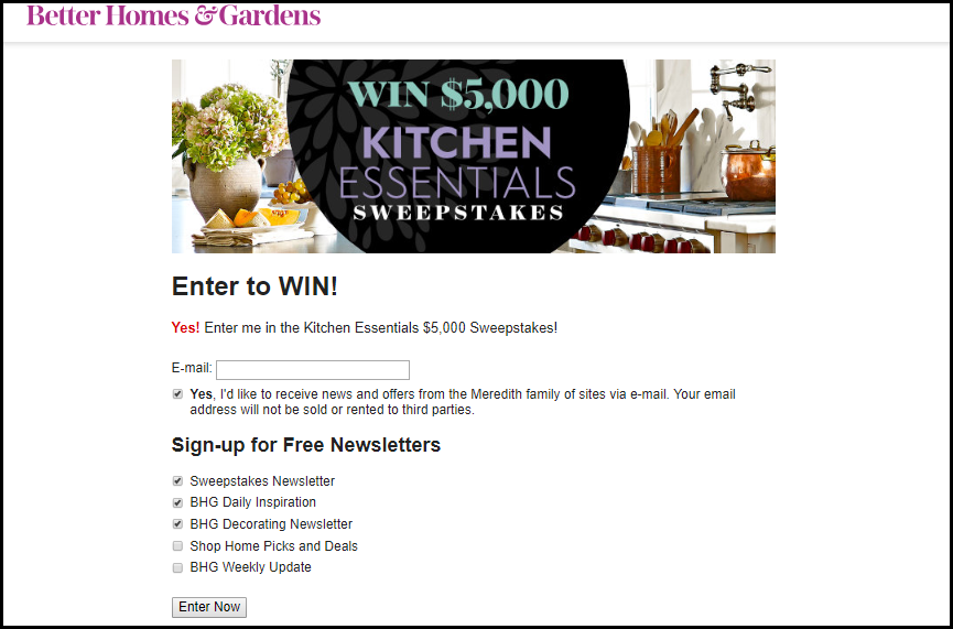 Summer Sweepstakes Better Home & Gardens