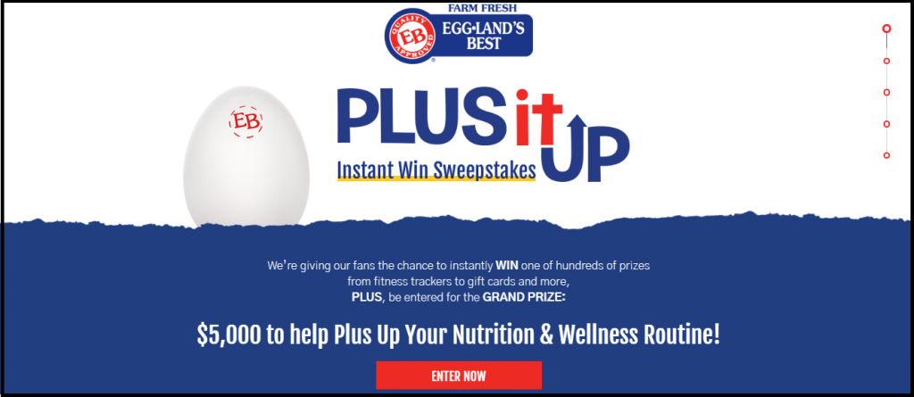 Eggland's Best · Plus It Up Instant Win Sweepstakes