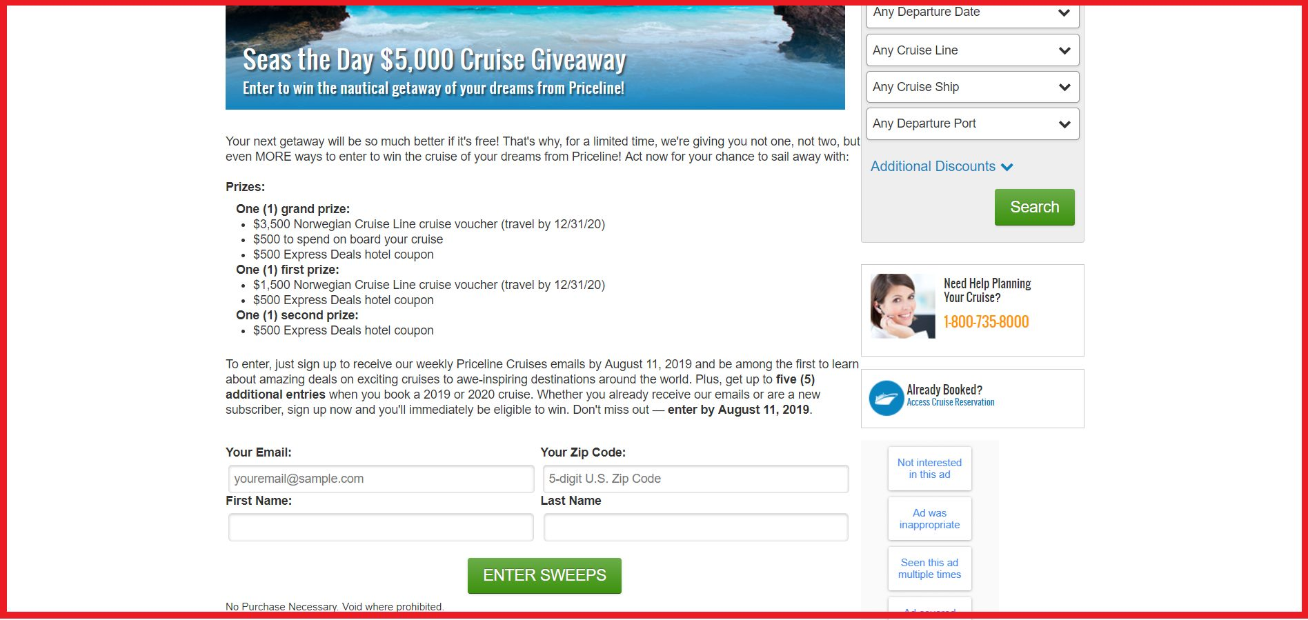 cruise entry guide