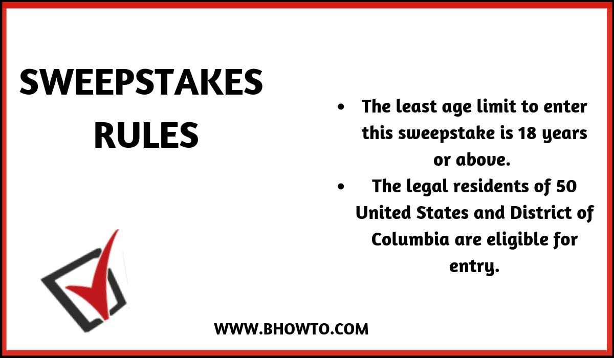 Rules of PopSugar Sweepstakes