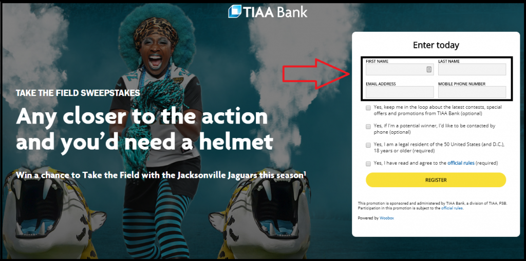 TIAA Bank Jacksonville Jaguars NFL Tickets Sweepstakes