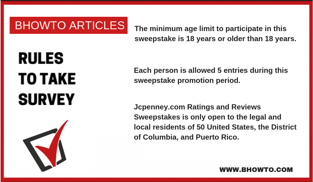 JCPenney Sweepstakes Age & Eligibility