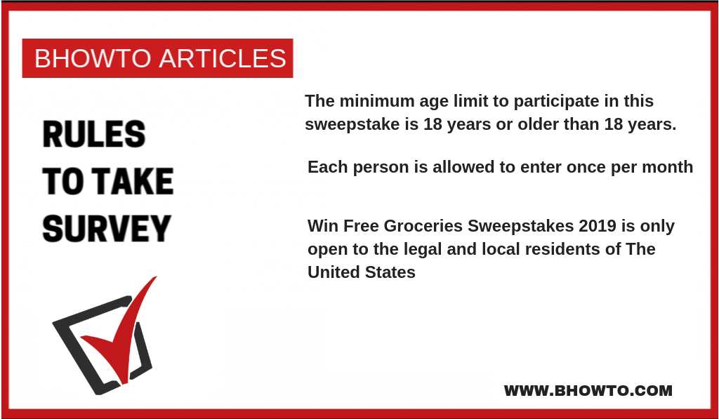 Groceries Sweepstakes 2019