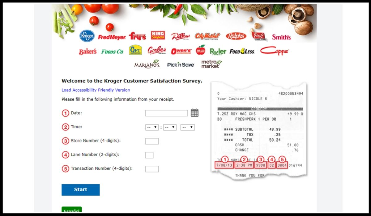 Online entry for PicknSave Customer