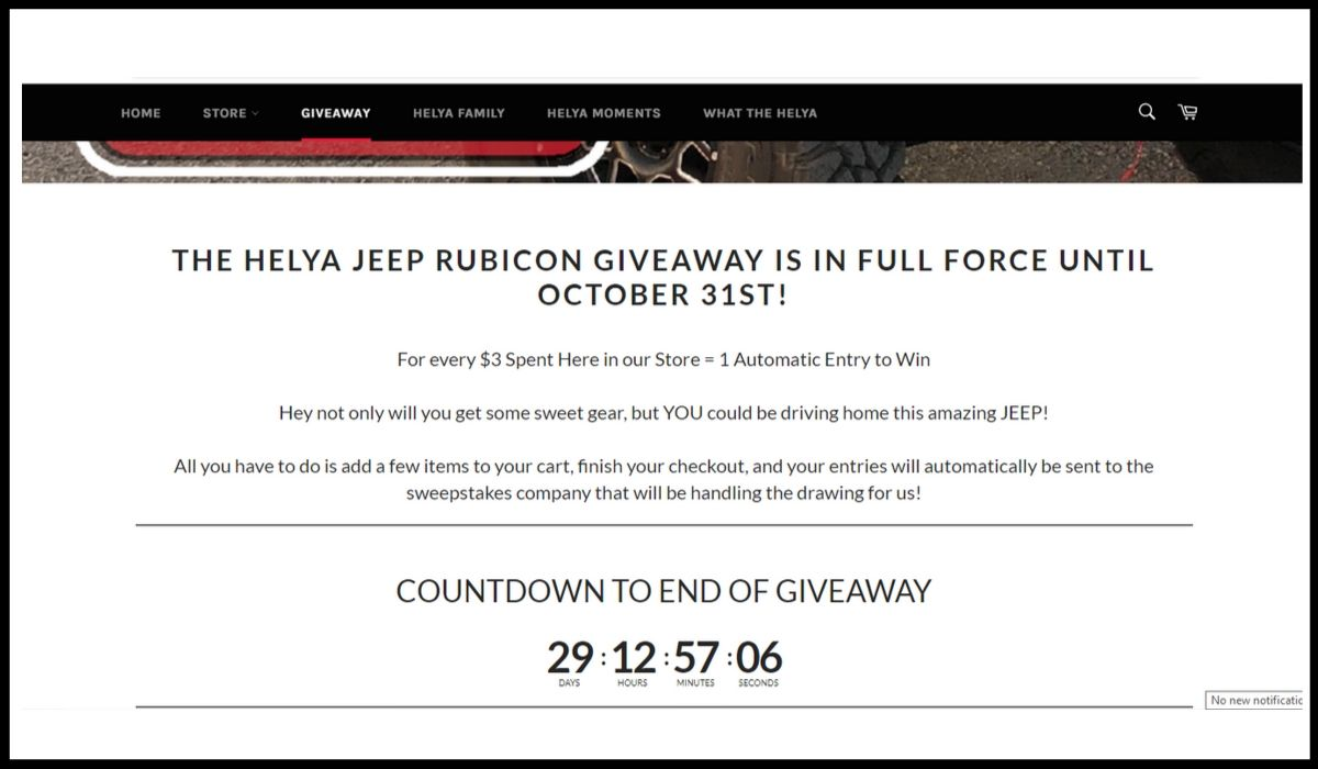 Online entry for Helya Jeep survey