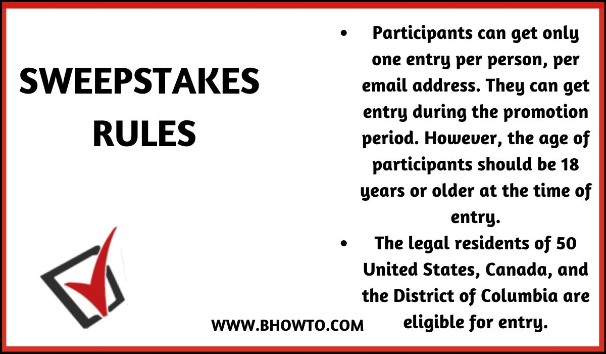 Rules for Sweepstakes 2019