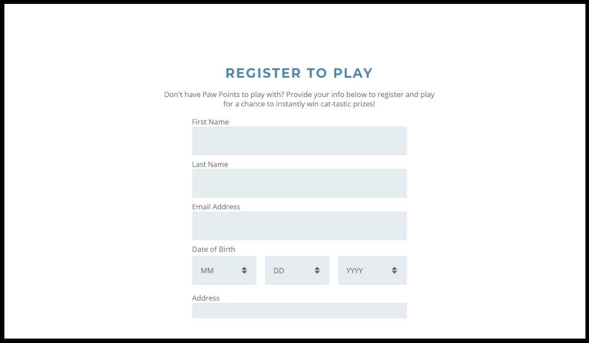 Fill the entry form to get the entry in Instant Win Game