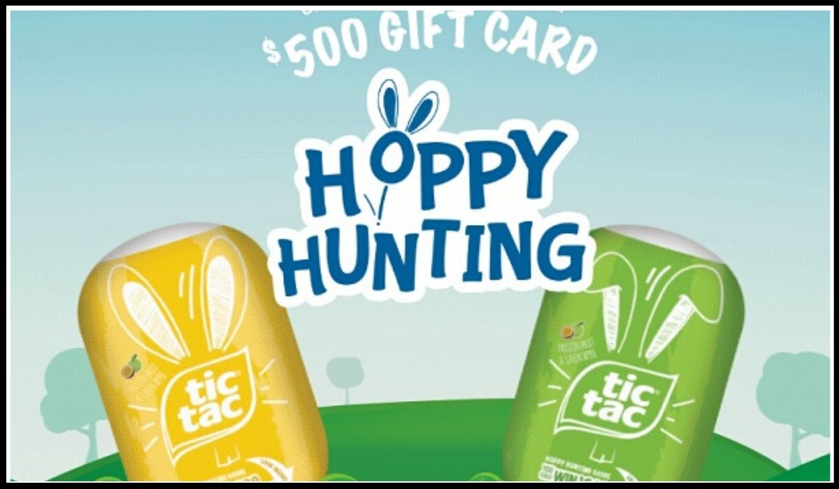 Entry for Tic Tac Hoppy Hunting Sweepstakes