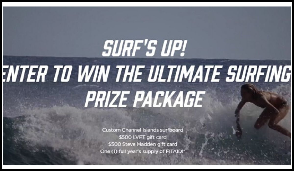 Entry to win a prize package of ultimate surfing