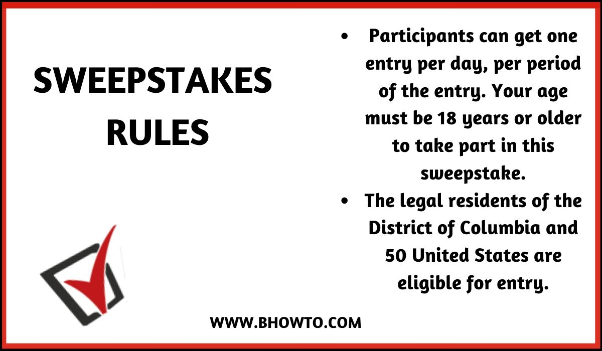The Kindness Challenge Sweepstakes rules